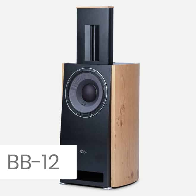 Bohne Audio BB-12: elegant, for a 12 inch bass slim loudspeaker for every living room