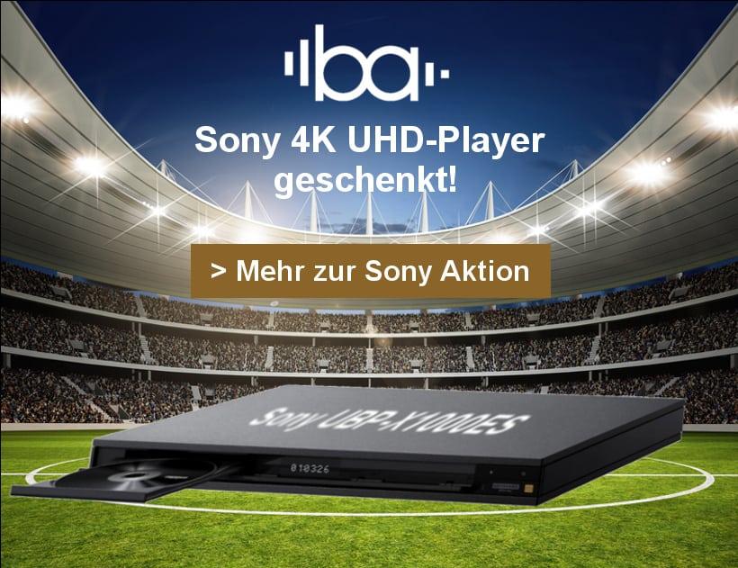 Sony 4K Beamer Aktion: Blu-ray Player UBP X1000ES gratis beim Kauf von VW-260ES, VW360ES oder VW-550ES