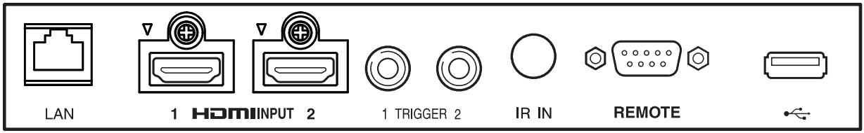 Anschlussterminal Sony VPL-VW760ES Referenz Laser Beamer. Erhältlich bei Bohne Audio