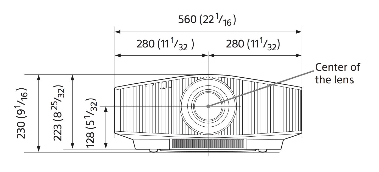 Sony Laserbeamer VPL-VW760ES Abmessungen