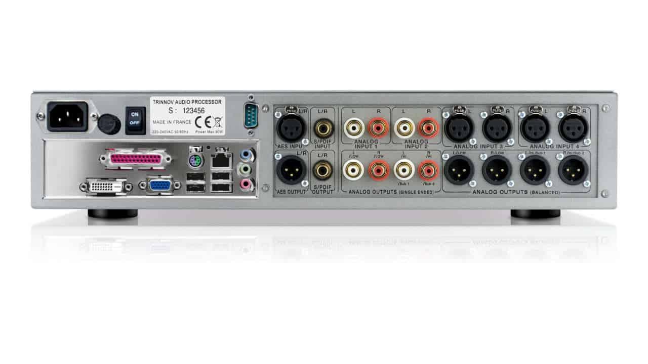 Trinnov ST-2 HiFi Rückansicht und Anschlussübersicht des High End Sound Prozessors für Raumkorrektur