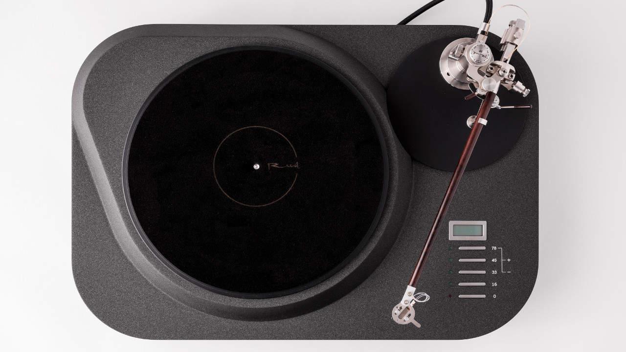 Reed 1c Plattenspieler Laufwerk mit Reibrad Antrieb von oben