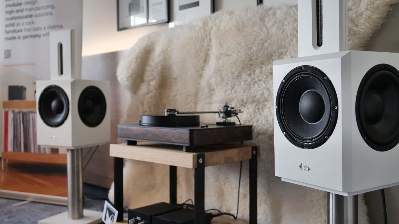 Bohne Audio BB-10 in weiß auf den Süddeutschen HiFi Tagen