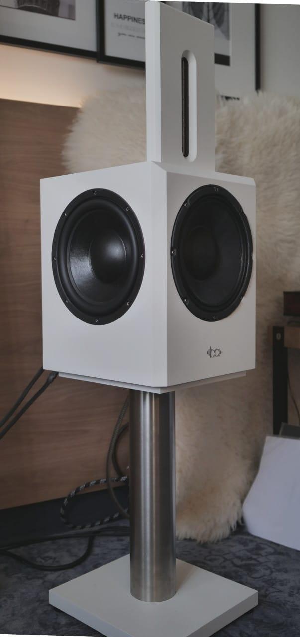 Bohne Audio BB-10 in weiß auf den Süddeutschen HiFi Tagen 2