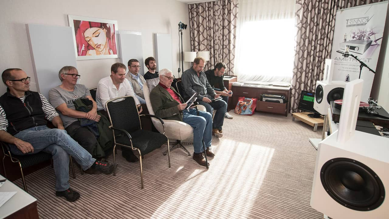 Westdeutsche Hifi Tage Bonn 2018: Bohne Audio mit interessierten Zuhörern