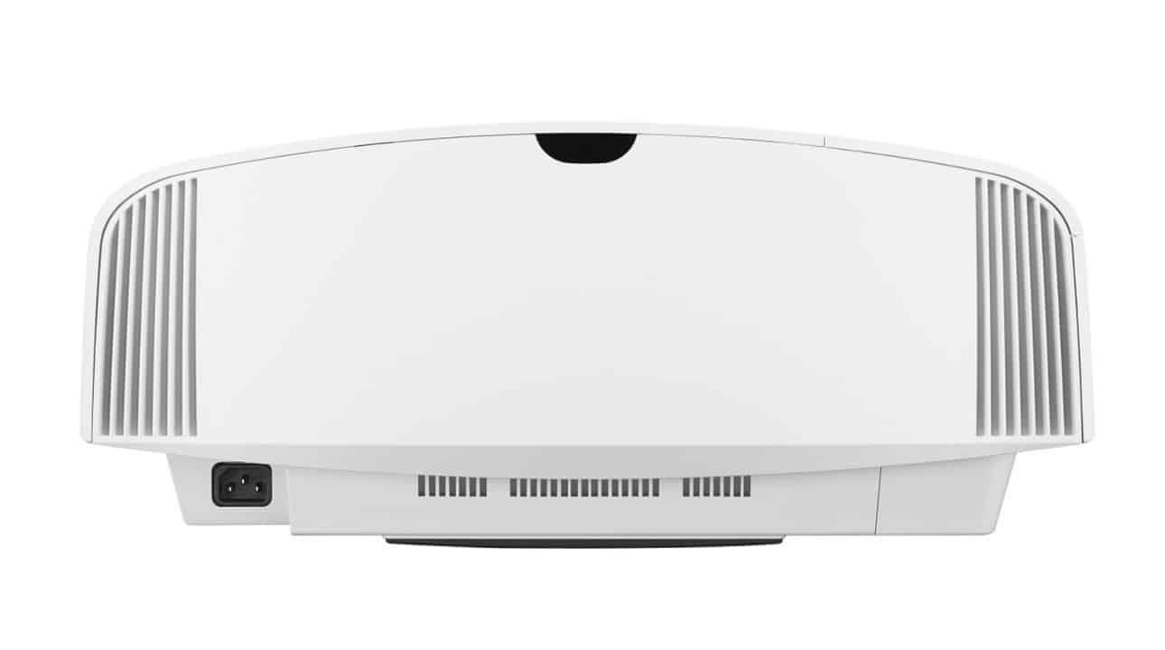 Sony Heimkino Beamer 4K: VPL-VW570ES mit Irisblende und 1800 Lumen von hinten weiß