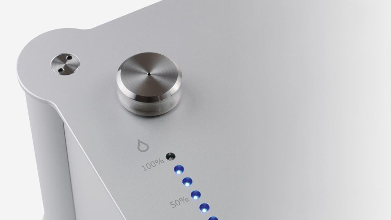 Füllstandsanzeige der Plattenwaschmaschine Clearaudio Double Matrix Professional Sonic