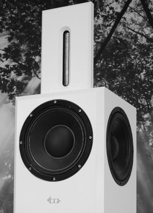 Bohne Audio Kompaktlautsprecher BB-10 in Weiss Detailansicht vorne