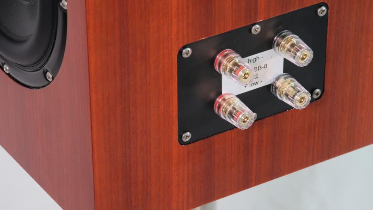 Bohne Audio BB-8 Kompaktlautsprecher Furnier Padouk Terminal