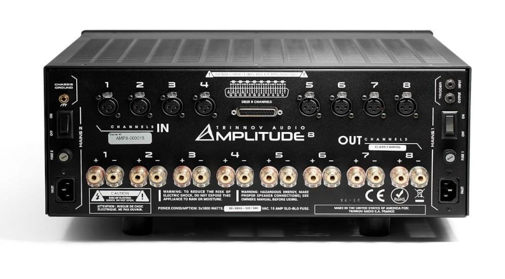 Trinnov Amplitude8 Mehrkanal Endstufe: Rückseite