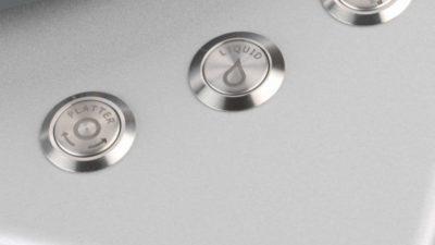 Clearaudio Smart Matrix Silent Plattenwaschmaschine Bedienknöpfe