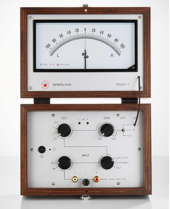 Sperling Audio PDM-1 Azimuth Messgerät - Skala und Einstelldrehknöpfe