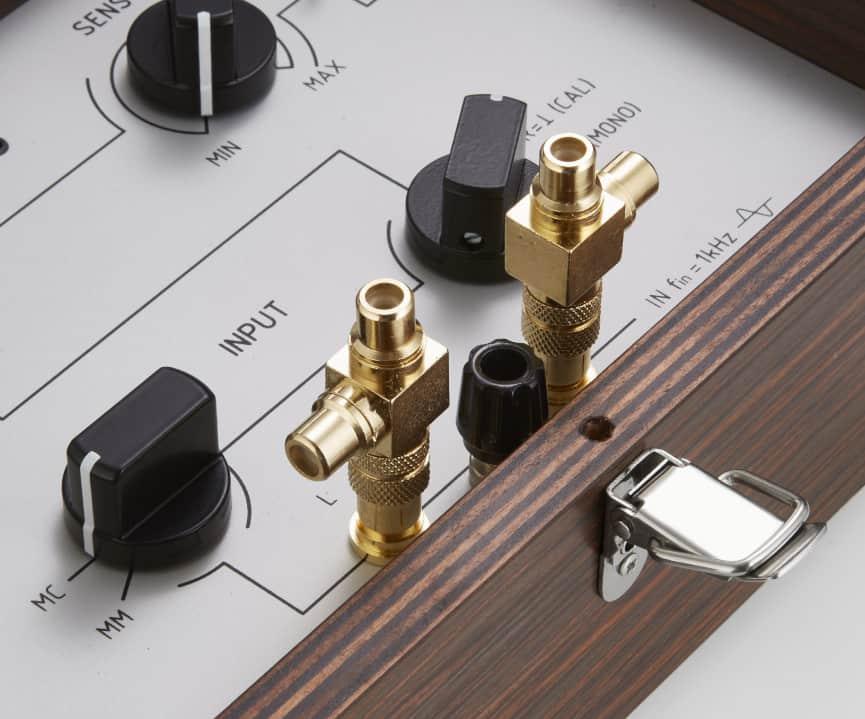 Sperling Audio PDM-1 Azimuth Messgerät - Detailansicht Cinch-Eingang uns Splitter