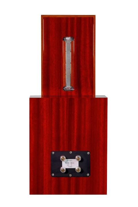 Bohne Audio BB-8 Kompaktlautsprecher Studiomonitor Padouk Furnier Rueckseite
