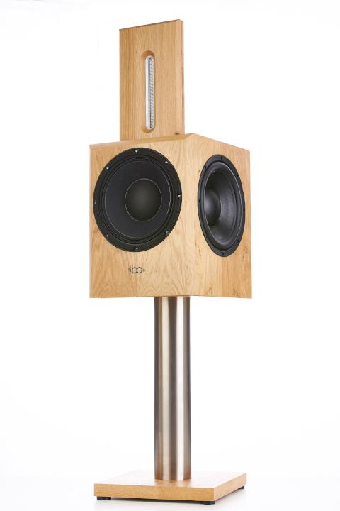 Bohne Audio Aktivlautsprecher BB-10 Eiche mit Standfuß