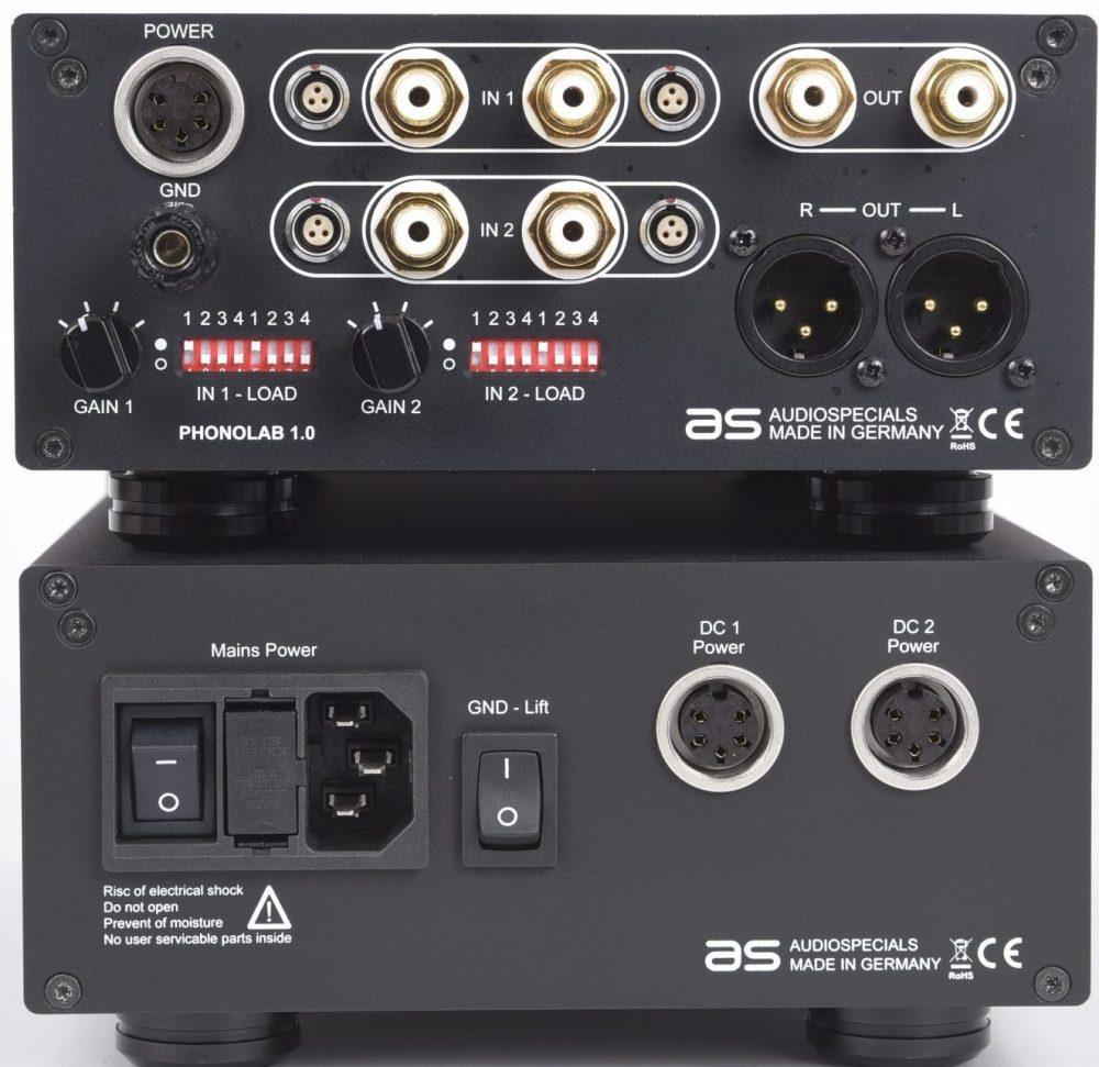 Audiospecials Phonolab mit symmetrischen Eingängen