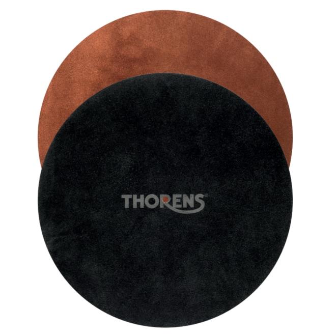 Thorens Ledermatten als Plattentellerauflage